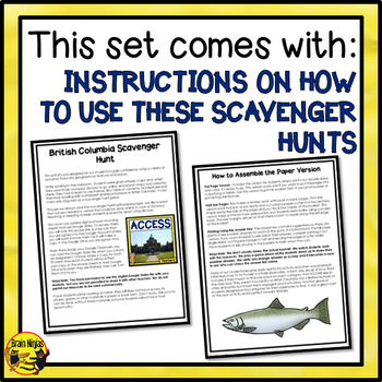 British Columbia Scavenger Hunt- A Research Skills Activity