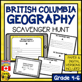 British Columbia Scavenger Hunt- A Research Skills Activity