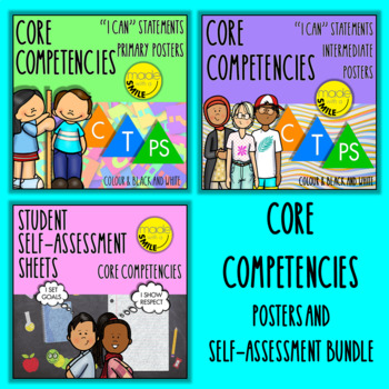 British Columbia's Core Competencies Poster and Self-Reflection Bundle