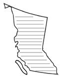 British Columbia writing template
