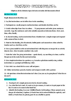 British Curriculum Year 3
