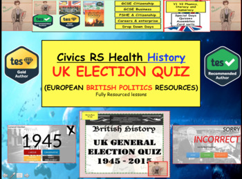 British Elections 1945 - 2015 Quiz British and European politics