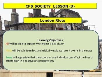 British politics History - London Riots - Bad citizens European History
