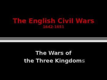 British History - The English Civil Wars