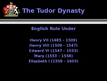 British History - The Tudor Dynasty