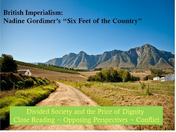 """British Imperialism: Gordimer' s """"Six Feet of the Country"""""""