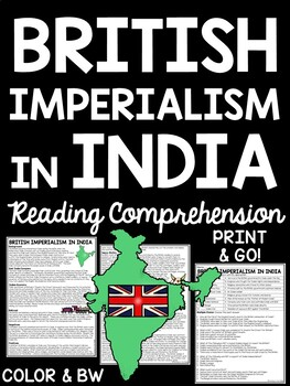 British Imperialism in India article, questions, sequencin
