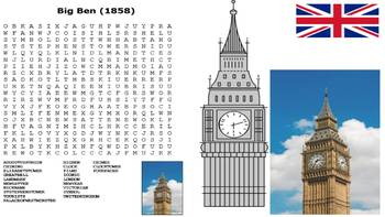 British Landmarks Word Search Pack