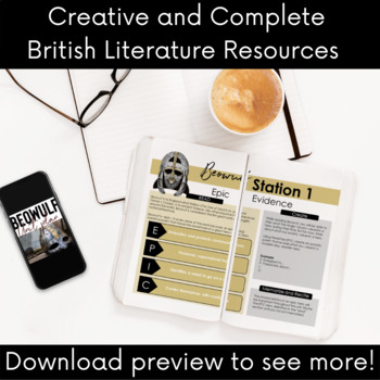 British Literature Bundle: All of my 12th Grade Brit Lit Lesson Plans