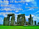 Beowulf-Macbeth-Canterbury Tales: ELA British Literature Bundle