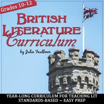 British Literature Curriculum, Full Year BUNDLE