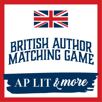 British Literature Introductory Activity - Author Matching Game