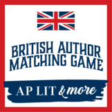 British Literature Author Matching Game