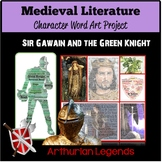 British Literature: Medieval Lit, Sir Gawain & the Green Knight WordArt Activity