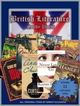 British Literature Novel Study Unit Collection: Includes 11 Study Units!