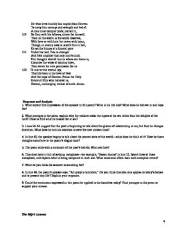 British Literature Poetry Packet