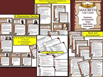 BRITISH LITERATURE TASK CARDS COLLECTION