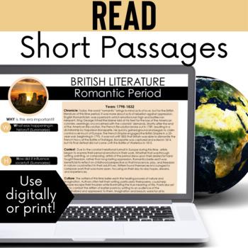 British Literature Time Period Introductions