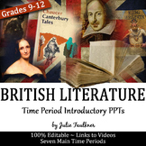 British Literature Time Period Introductory Power Points