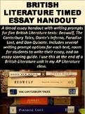 British Literature Timed Essay Handout
