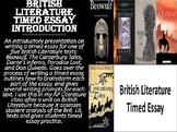 British Literature Timed Essay Introduction
