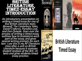 British Literature Timed Essay Introduction
