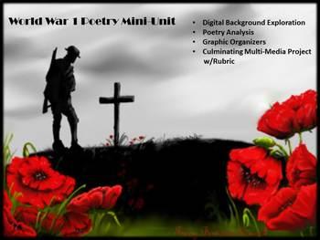 British Literature: WW1 Poetry Unit~Background, Analysis, Multi-Media Project