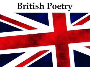 British Poetry 4 Week Unit - 12 Lessons, PPT, Resources, H