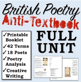 British Literature Poetry UNIT and BOOKLET (Poems+Poets+Terms+Creative Writing)