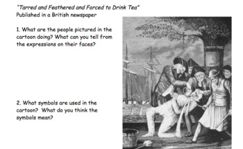British Propaganda: Tarred and Feathered and Forced to Drink Tea