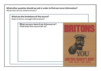 British Recruitment Posters Activity