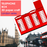 British Red Phone Booth 3D paper craft