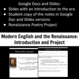 British Renaissance Introductory Notes and Project
