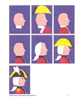 British Revolutionary War Soldier Cut and Paste Art Pattern