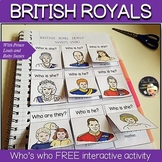 Royal Family Game - Interactive notebook