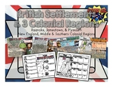 British Settlements & Colonial Regions in America PowerPoint & Infographic Notes