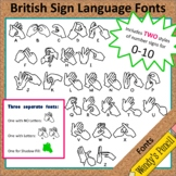 British Sign Language (BSL) Alphabet Fonts