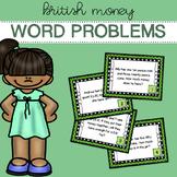 British / UK Money - Word Problems - Task Cards
