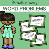 British / UK Money - Word Problems - Task Cards