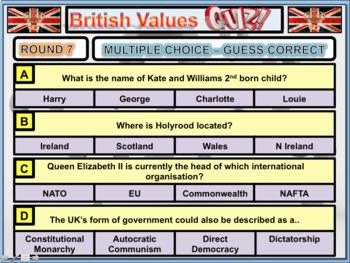 British Values Quiz