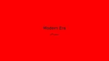 British Writer's of the Modern Era