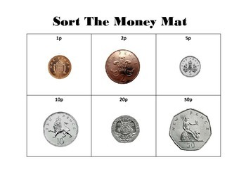 British coin recognition money and money addition