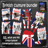 British culture - ESL adult cross-culture conversation bundle.