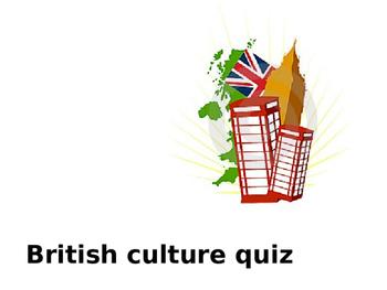 British culture quiz (Interactive PowerPoint)