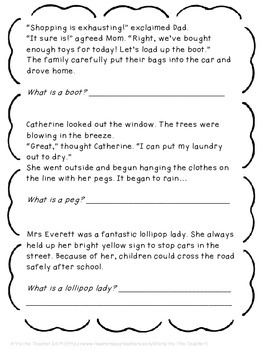 British to American English reading comprehension and inference pack