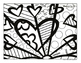 Britto Sun and Hearts Color Page