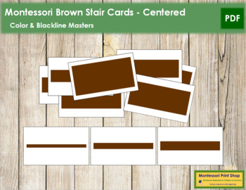 Broad Stair (Brown Stair) Cards - Centered