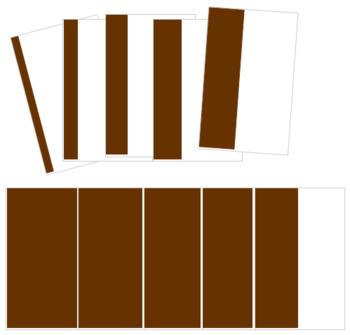 Broad Stair (Brown Stair) Cards - Cornered