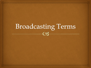 Broadcast Journalism Terms and Definitions Bundle
