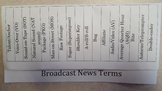 Broadcast News Terms Foldable for Interactive Notebook